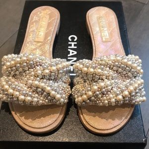 Chanel Pearl Mules